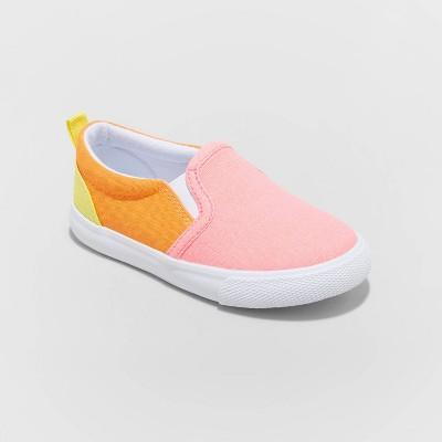 Toddler Girls' Sandy Twin Gore Slip-On Sneakers - Cat & Jack™ Pink