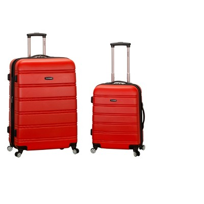 Rockland Melbourne 2pc Expandable ABS Spinner Luggage Set - Red