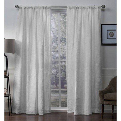 Elle Heavyweight Floral Scroll Chenille Jacquard Room Darkening Rod Pocket Window Curtain Panel Pair - Exclusive Home™ - image 1 of 5