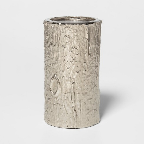 Candle Holder - Textured Silver - Threshold™ - image 1 of 2