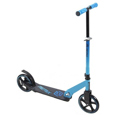Huffy Remix Folding Inline Scooter with Oversized 200mm Wheels for Kids Ages 8 and Over, Blue