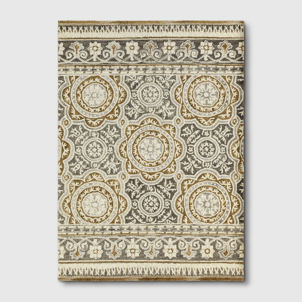 5'X7' Floral Tufted Area Rugs Cream (Ivory) - Threshold