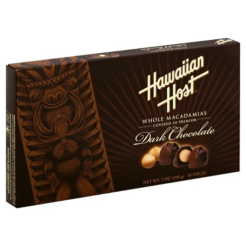 Hawaiian Sun Dark Chocolate Covered Macadamia Nuts 7 oz - image 1 of 1
