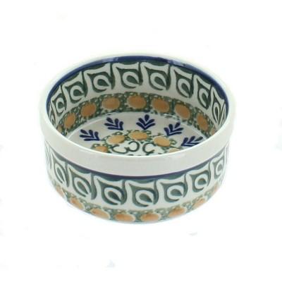 Blue Rose Polish Pottery Herb Garden Small Ramekin