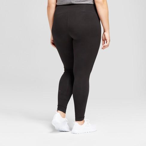 69c442f3defd Women s Plus-Size Cotton Spandex Leggings - C9 Champion® - Black 3X   Target