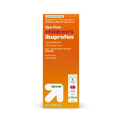 Children's Ibuprofen (NSAID)Oral Suspension Pain Reliever & Fever Reducer Liquid - Berry - 8 oz. - Up&Up™