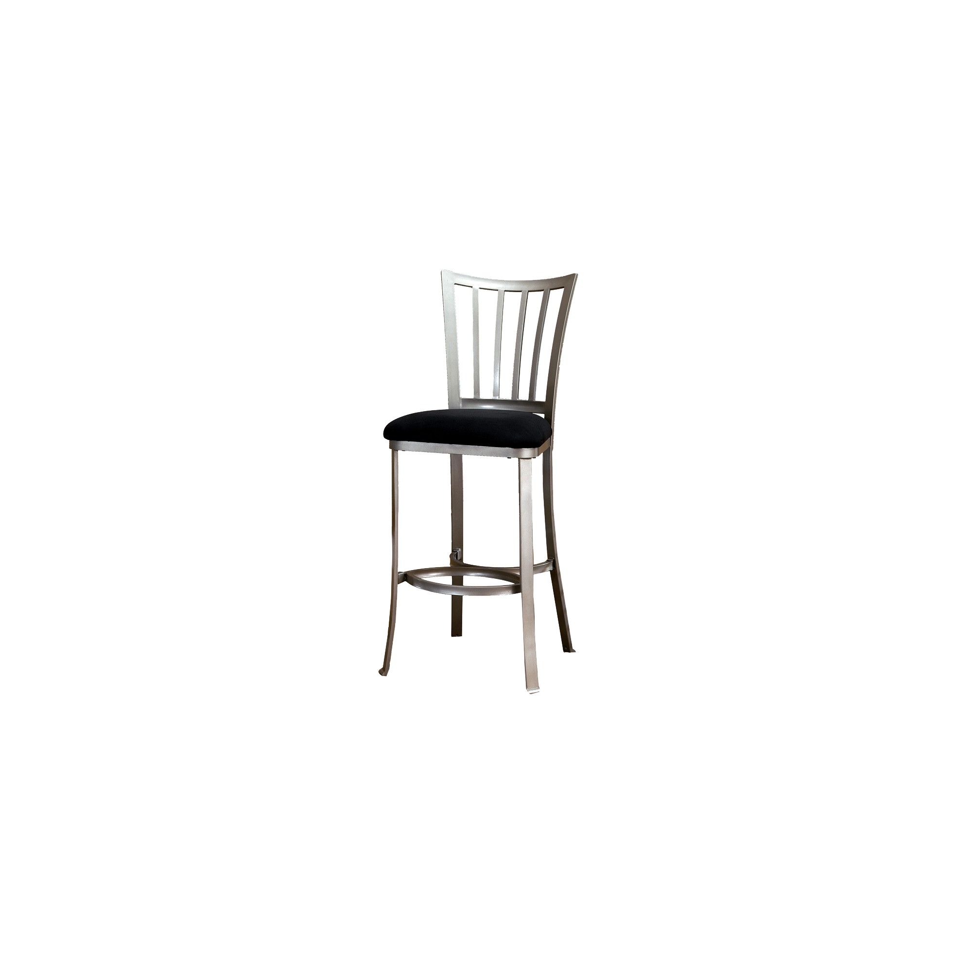 'Hillsdale Furniture Delray 26'' Counter Stool - Pewter/Black'