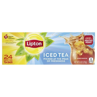 Lipton Family Black Iced Tea Bags Unsweetened - 24ct