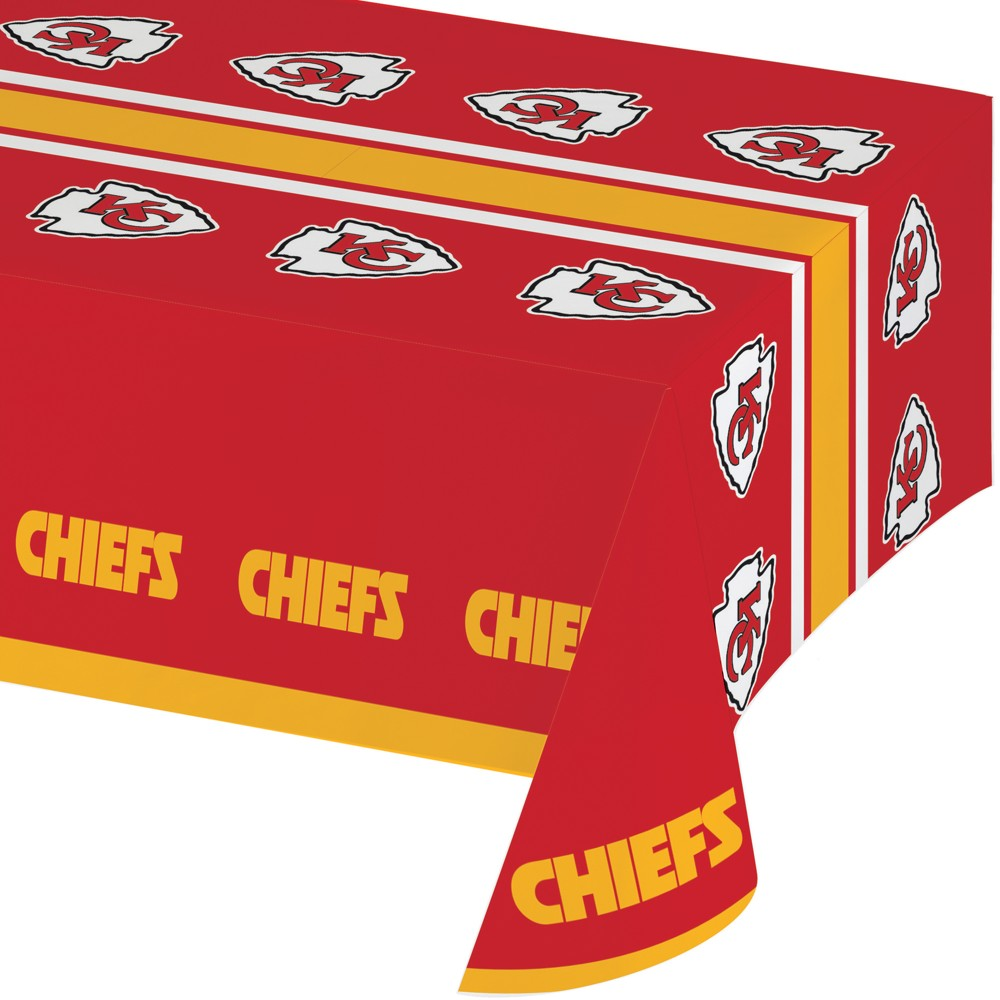 Kansas City Chiefs Plastic Tablecloth, Multi-Colored