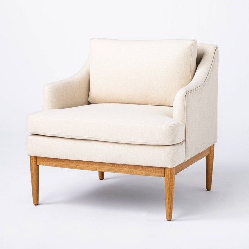 Howell Upholstered Accent Chair with Wood Base - Threshold™ designed with Studio McGee - image 1 of 4