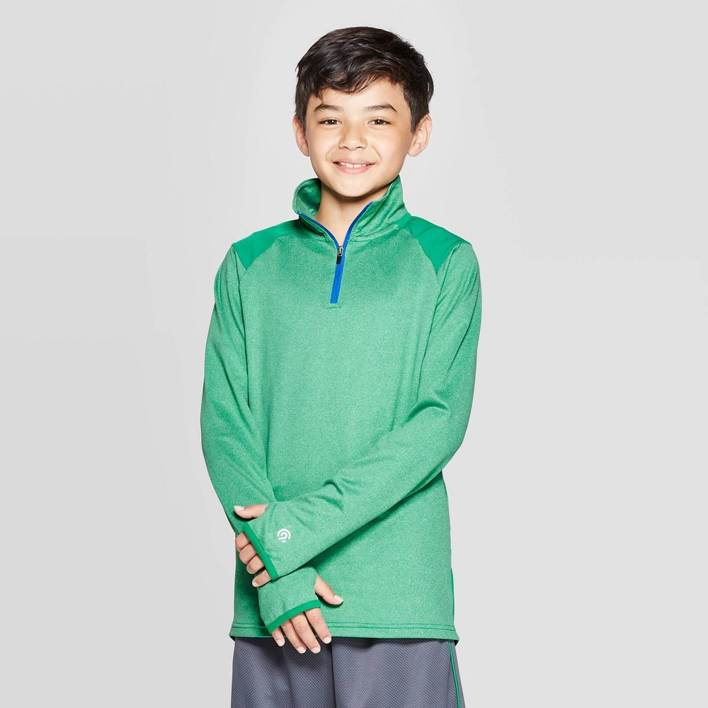 Image of Boys' Performance 1/4 Zip Pullover - C9 Champion Green L, Boy's, Size: Large