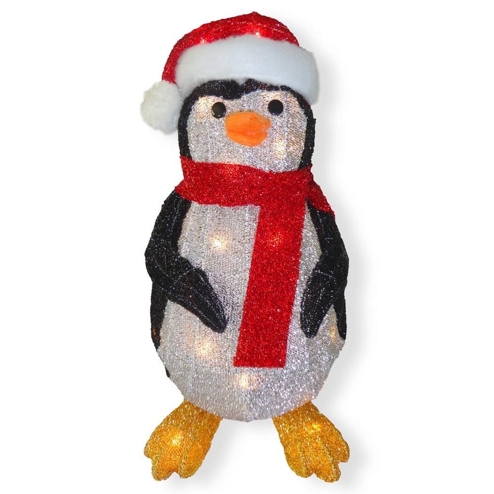 "Image of ""20.5"""" Tinsel Glitter Lit Penguin - National Tree Company"""