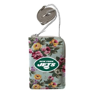 NFL New York Jets Canvas Floral Smart Purse