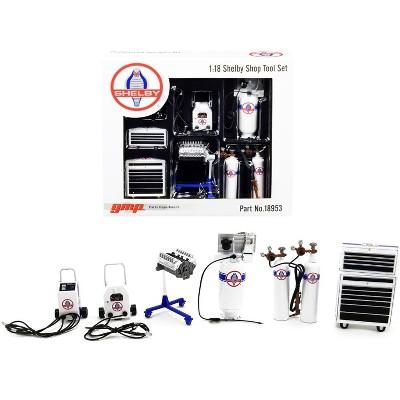 "Garage Shop Tools #1 ""Shelby Automotive"" Set of 6 pieces 1/18 Diecast Replica by GMP"