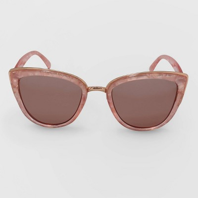 Women's Cateye Plastic Metal Combo Sunglasses - Wild Fable™ Pink
