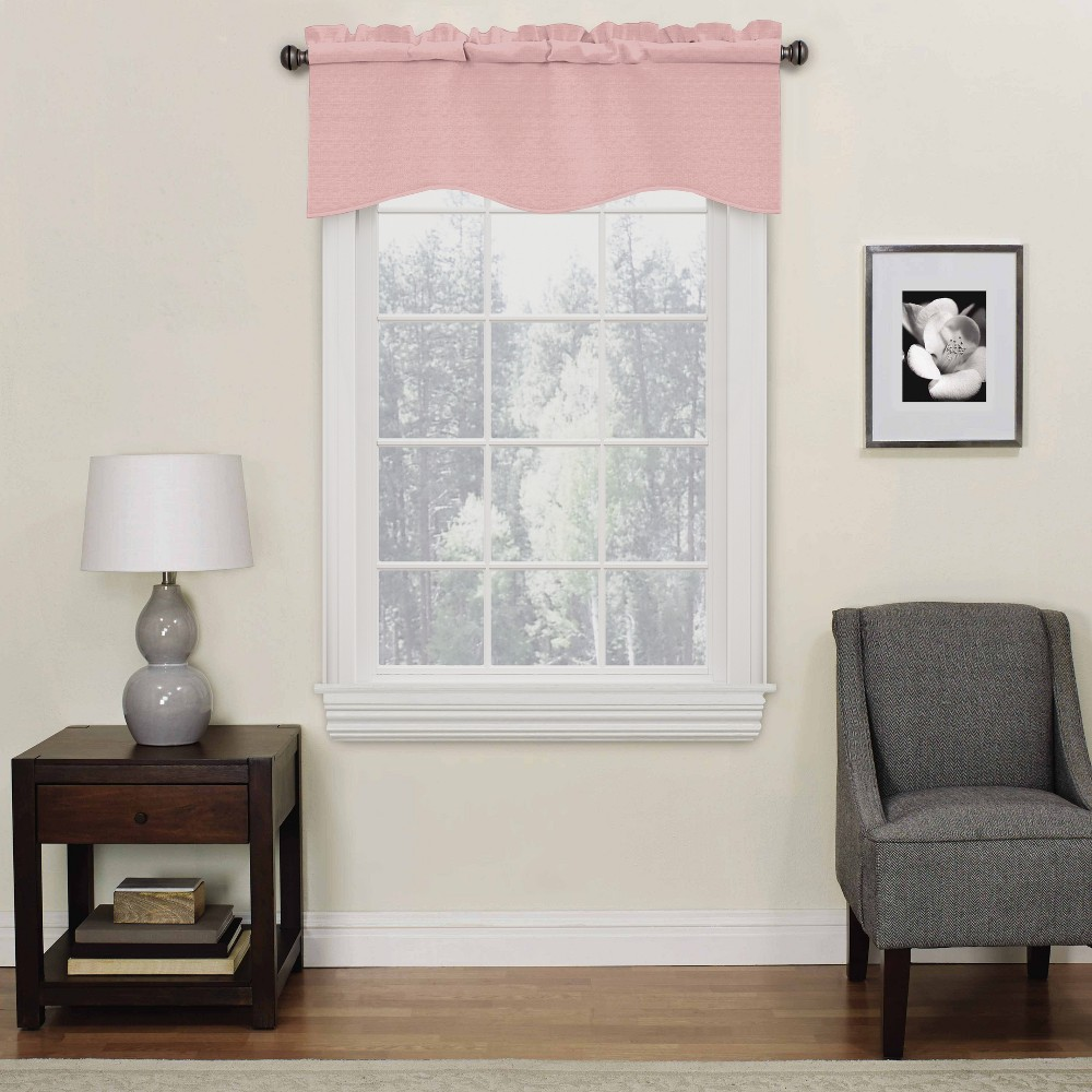 Image of 42x18 - Kendall Thermaback Blackout Valance Blush - Eclipse