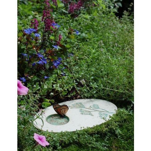 Outdoor Butterfly Puddling Stone for Pollinators and Garden Decor - GARDENER'S SUPPLY CO. - image 1 of 3
