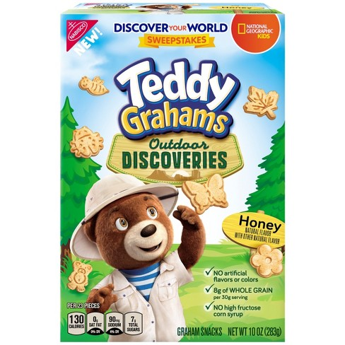 Teddy Grahams Outdoor Discoveries Honey Flavored Graham Snacks - 10oz - image 1 of 3