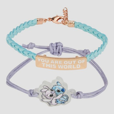 Girls' Disney Stitch 2pc Friendship Bracelet - Disney Store