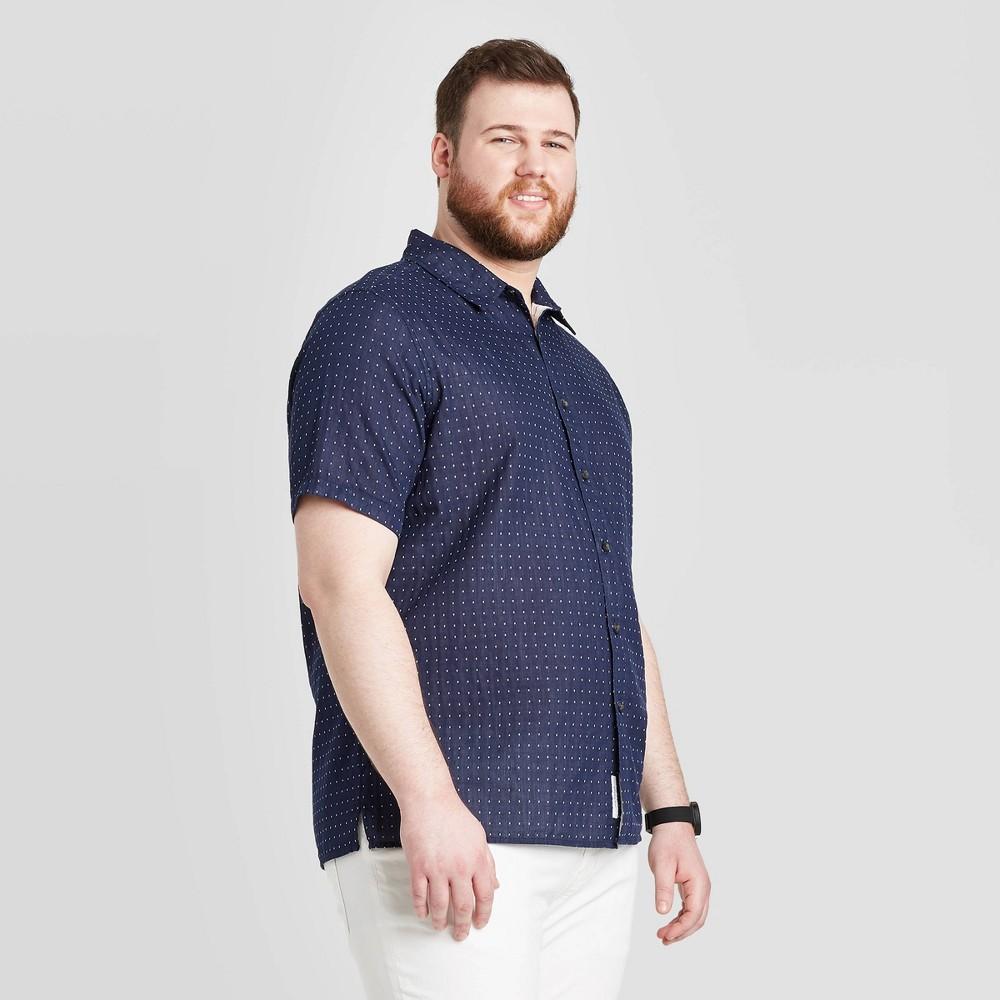 Men's Tall Printed Standard Fit Short Sleeve Shirt - Goodfellow & Co Navy LT, Men's, Blue was $19.99 now $12.0 (40.0% off)