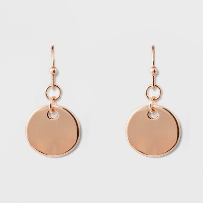 Disc Earrings - A New Day™ Rose Gold