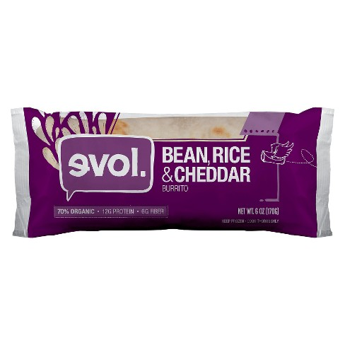Evol Bean, Rice and Cheddars Burrito - 6 oz - image 1 of 1