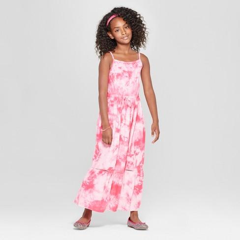 346f7d9f263 Girls  Tiedye Maxi Dress - Cat   Jack™ Pink   Target