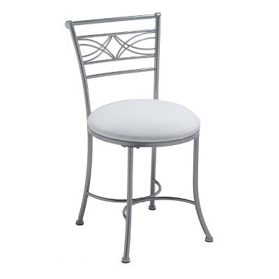 "19"" Dutton Metal Vanity Stool Chrome - Hillsdale Furniture"