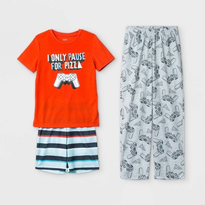 Boys' 3pc Gamer Pajama Set - Cat & Jack™ Orange