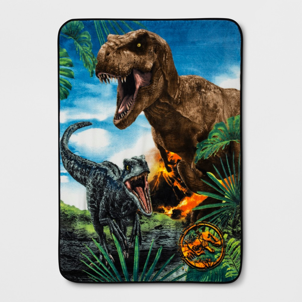 "Image of ""Jurassic World 46""""x60"""" Dinosaur Throw Blanket"""