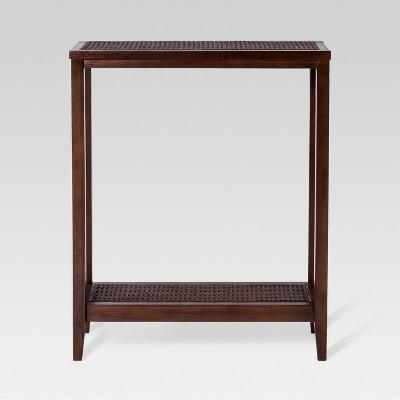 Wood & Rattan Console Table - Threshold™