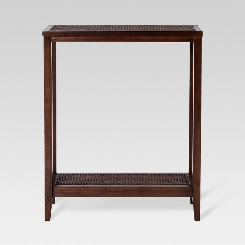 Wood & Rattan Console Table - Threshold™ - image 1 of 3