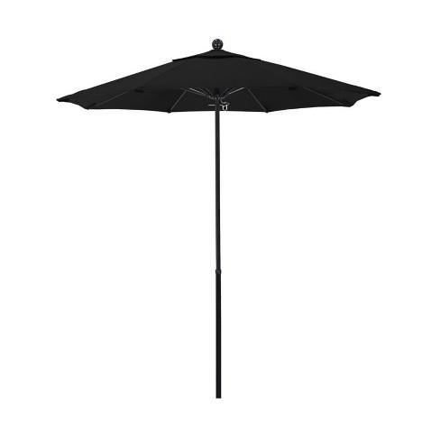 Oceanside 7.5' Market Umbrella in Black - California Umbrella - image 1 of 1