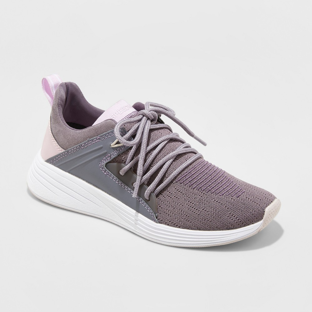 Women's Exalt Knit Lace-up with Bracing Sneakers - C9 Champion Purple 9.5