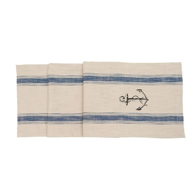 """C&F Home 13"""" x 72"""" Anchor Feed Sack Table Runner"""