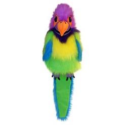 The Puppet Company Large Bird Plush Puppet - Plum headed Parakeet
