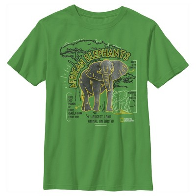 Boy's National Geographic African Elephant Facts Doodle T-Shirt