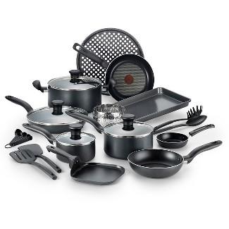 T-Fal 20pc Cookware Set Black