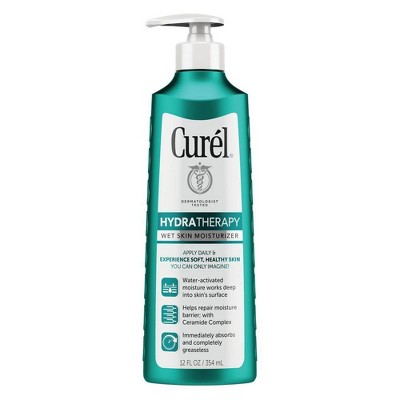 Curel Hydra Therapy Wet Skin Moisturizer - Unscented - 12oz