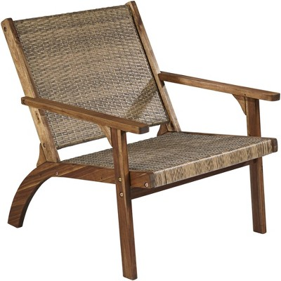 """Teal Island Designs Perry 27 3/4"""" Wide Natural Wood Outdoor Armchair"""