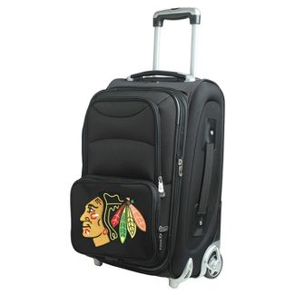 NHL Detroit Red Wings Mojo 21u0022 Carry On Suitcase - Black
