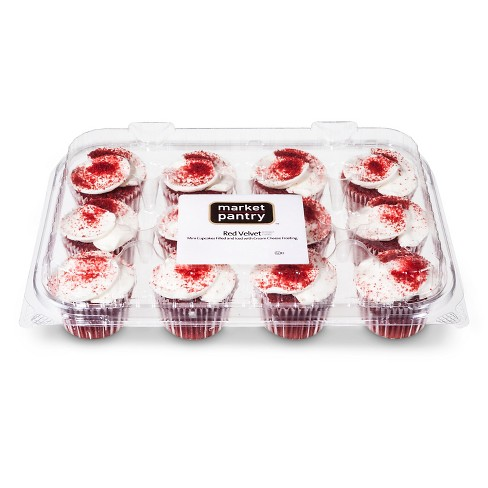 Red Velvet Mini Cupcakes - 12ct - Market Pantry™ - image 1 of 1