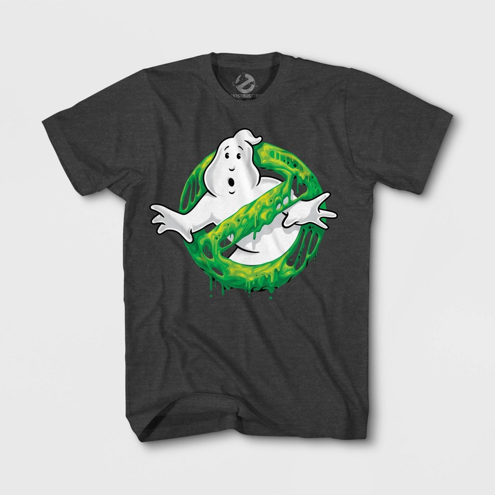 Image of Boys' Ghostbusters Graphic T-Shirt - Charcoal Heather, Boy's, Size: Large, Gray