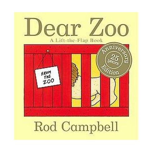 Dear Zoo 25 Years Anniversary Edition (Board Book) by Rod Campbell - image 1 of 2