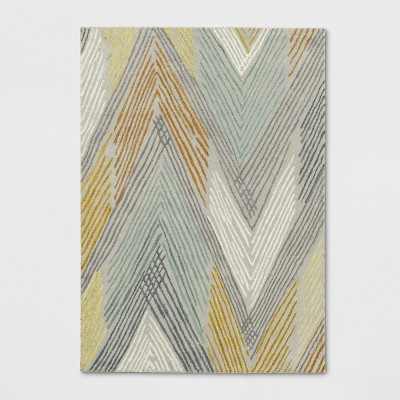 Chevron Tufted Wool Abstract Area Rug - Project 62™