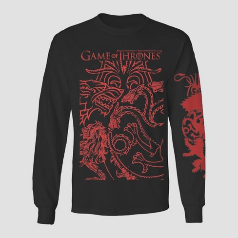 Men's Game of Thrones Icon Graphic T-Shirt Black - image 1 of 1