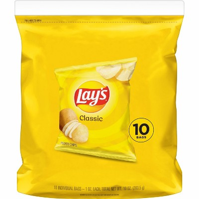 Lay's Classic Potato Chips - 10ct