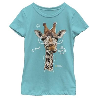 Girl's National Geographic Nerdy Giraffe T-Shirt