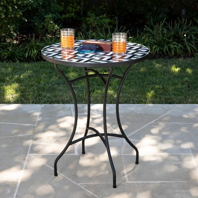 Fyn Round Outdoor Accent Table - Aiden Lane