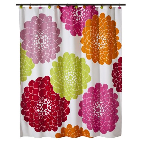 Stella Floral Shower Curtain - Pink - image 1 of 2